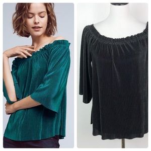 Anthropologie J.O.A Vacances Off Shoulder Top